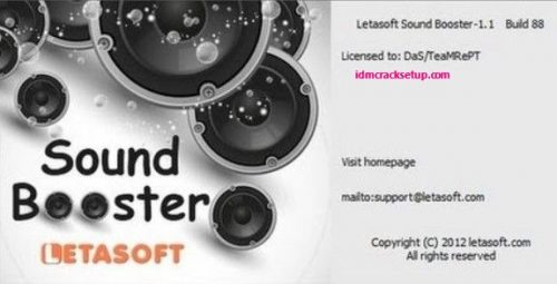 Letasoft Sound Booster 1.11.0.514 Crack & Product Key 2021 Full Version